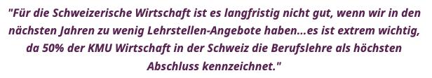 Statement von Prof. Dr. Ursula Renold zur aktuellen Situation in der Berufsbildung