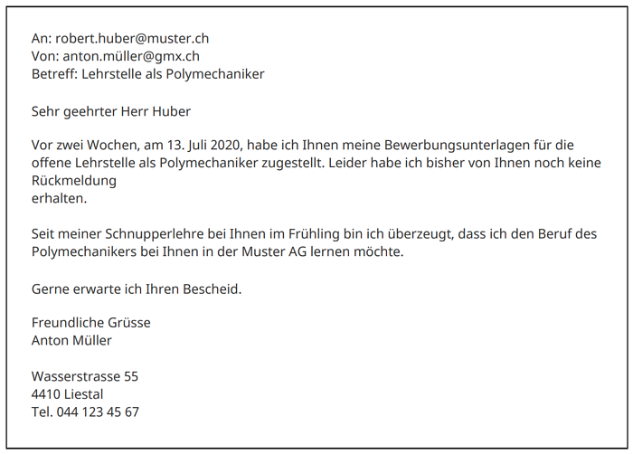 Nachfass E-Mail